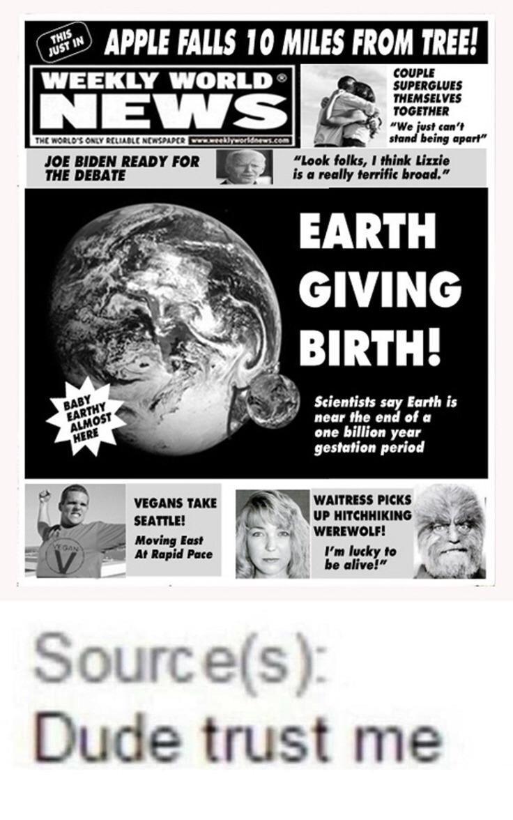 earth gives birth - meme