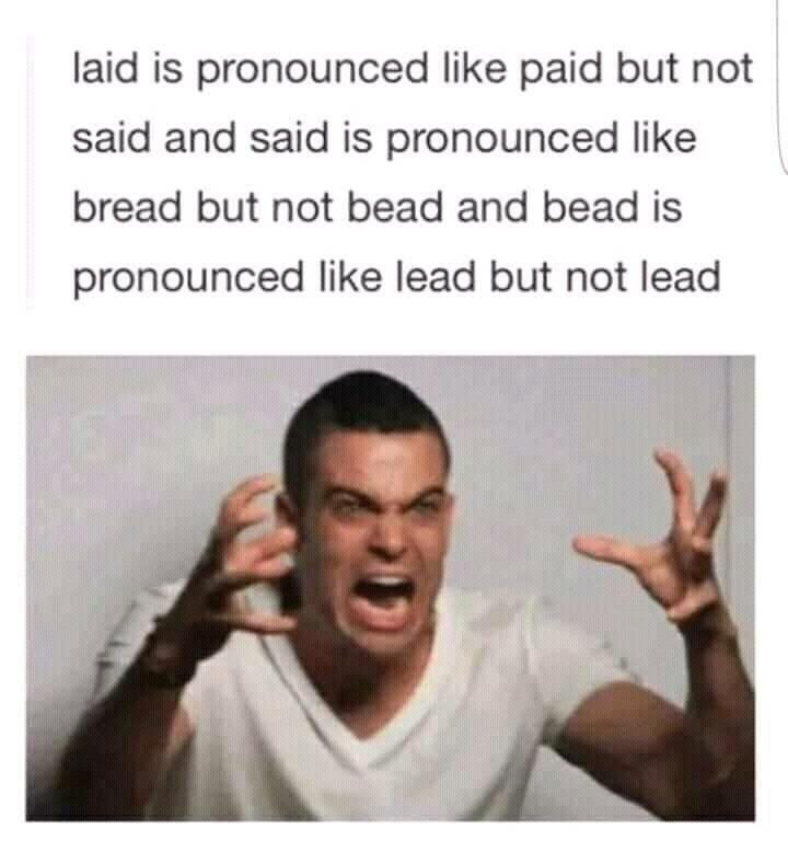 English does not make sense - meme