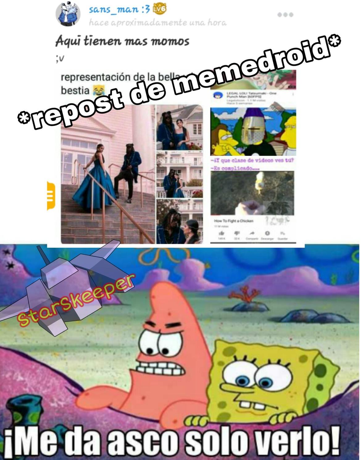 Al título le da asco el repost - meme