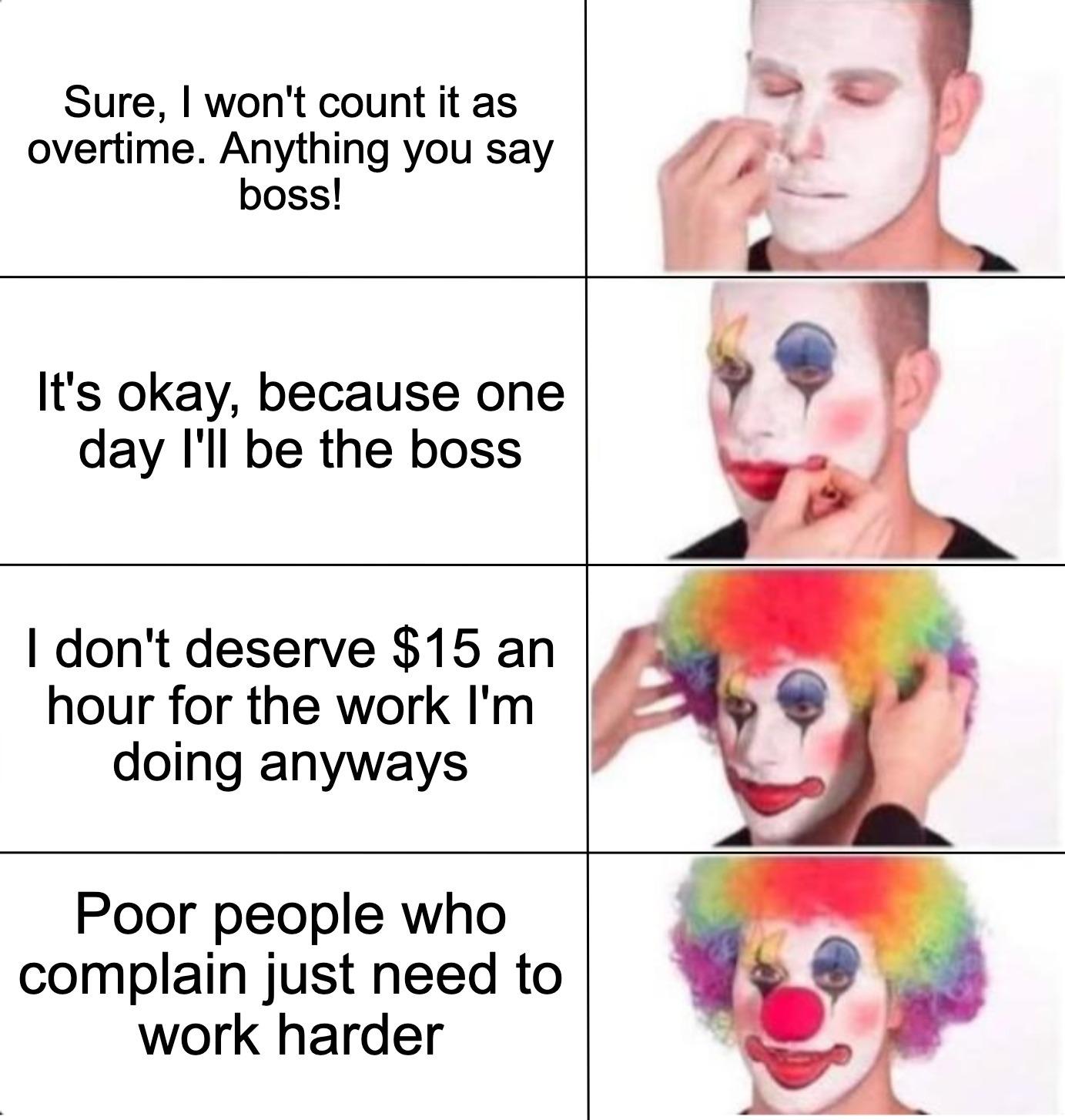 Don't clown yourself - meme