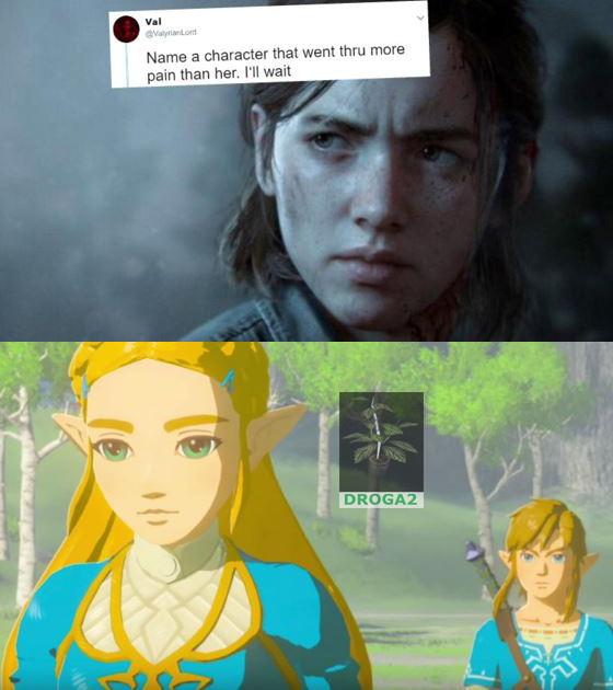 Zelda y Link - meme
