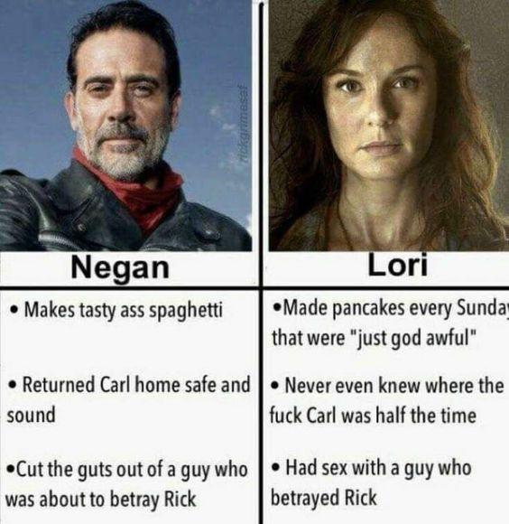 Negan vs. Lori - meme