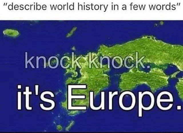 Knock knock it's Europe - meme