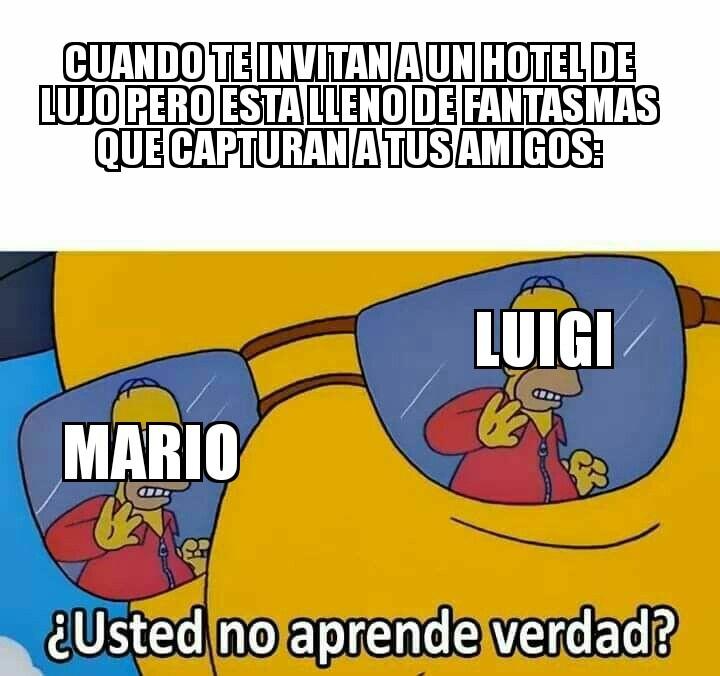 Como pasó en realidad Luigi's Mansion 3 - meme