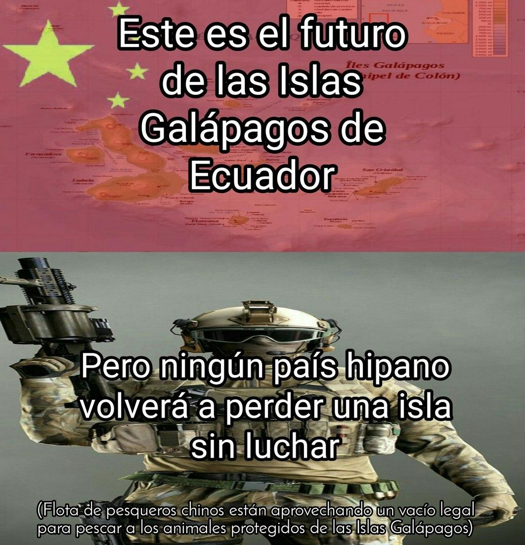 POR LAS MALVINAAAS NO PERDEREMOS LAS GALÁPAGOS - meme