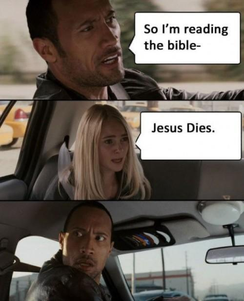 So I'm reading the Bible - meme