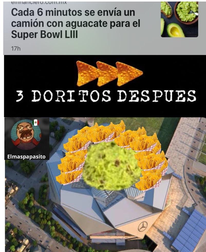 Van a llenar el estadio con guacamole - meme