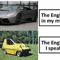 The English in my mind vs the English I speak