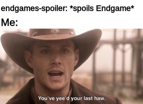 endgames-spoiler can die - meme