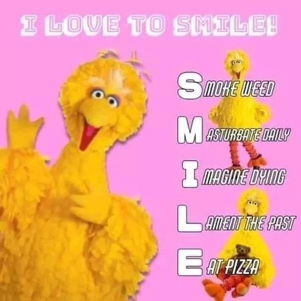 Smile, I love you - meme