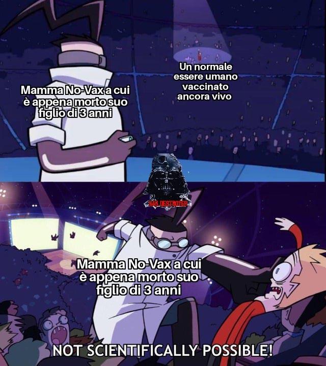 Ma i No-Vax non si sono già estinti? - meme