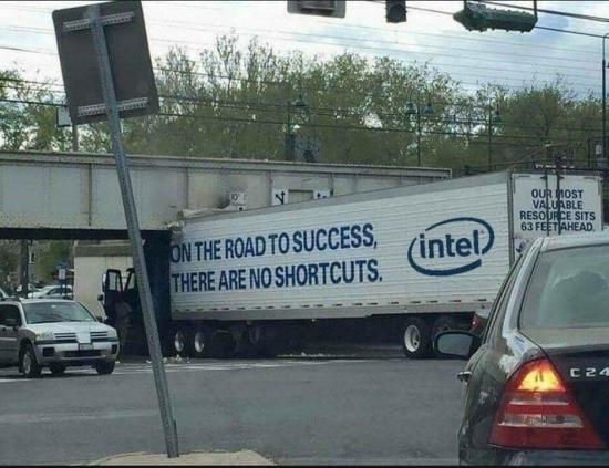 En el camino hacia el éxito no hay atajos, dijo Intel - meme