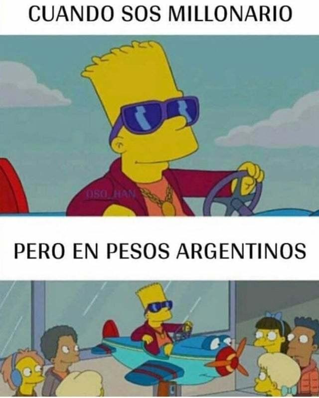 1 bolívar = AR$2500 - meme