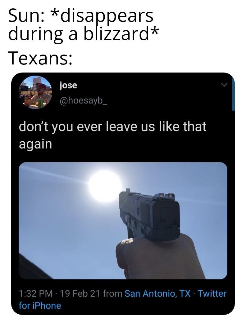 Never change, Texas - meme