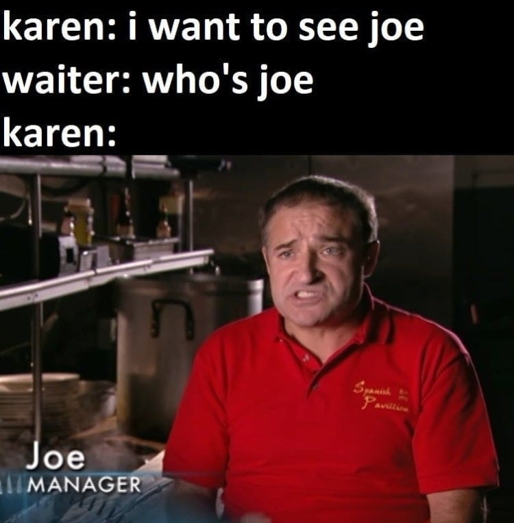joe manager - meme