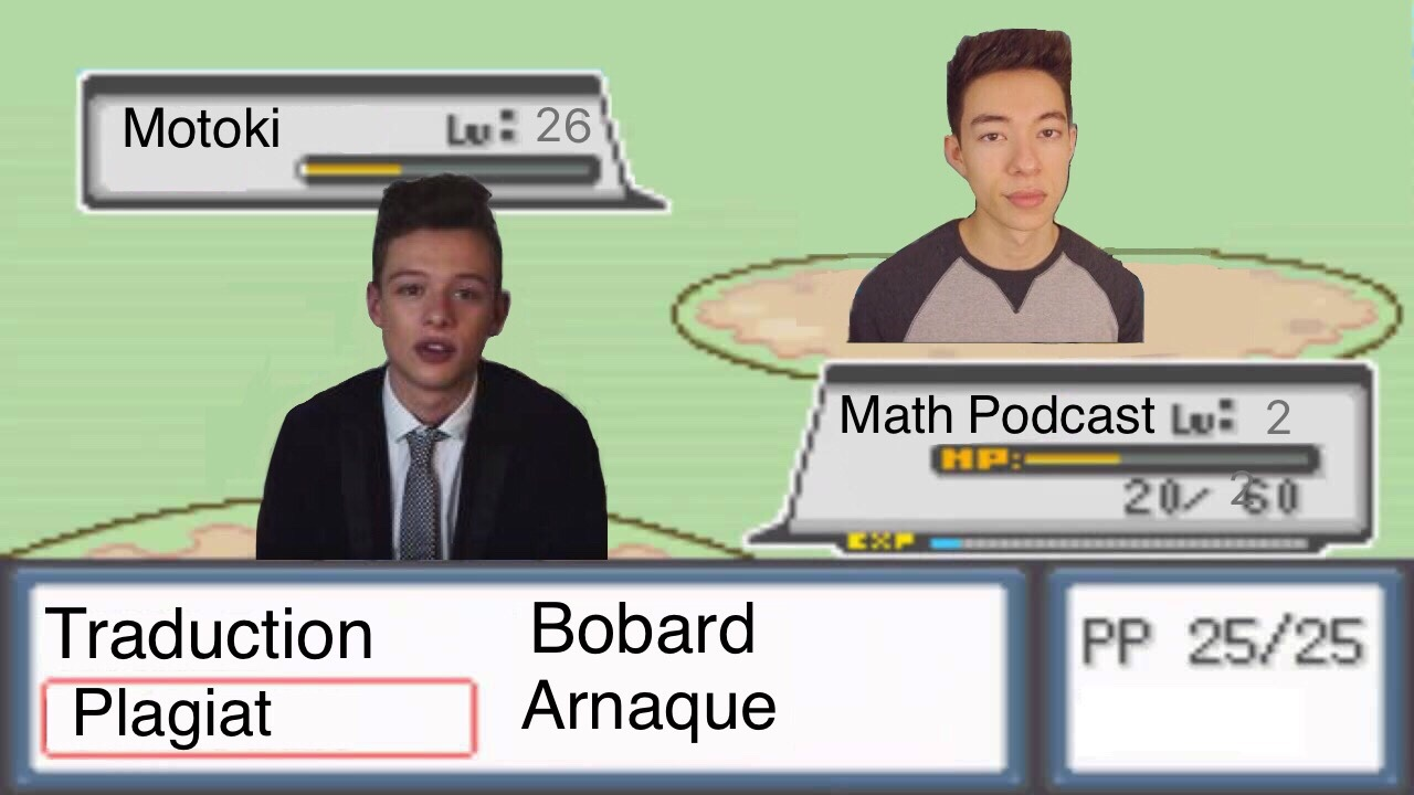 Math Podcast VS Motoki - meme