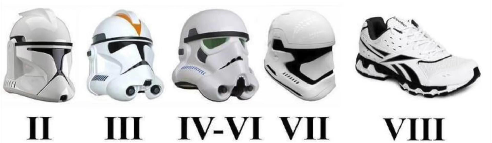 Evolucion del clontrooper :v - meme