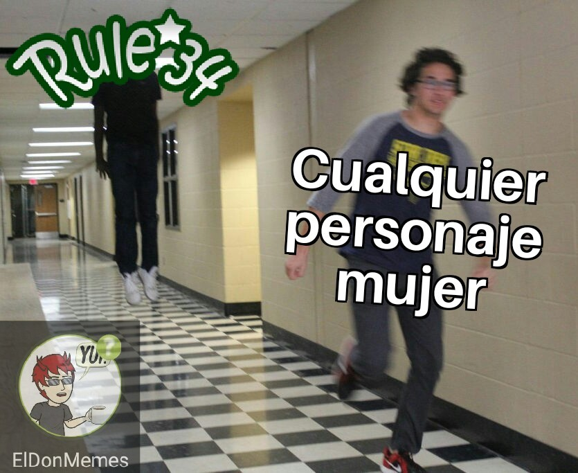 Nadie escapa de la rule 34 - meme