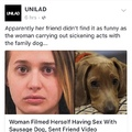 5th comment fucks their sausage dog