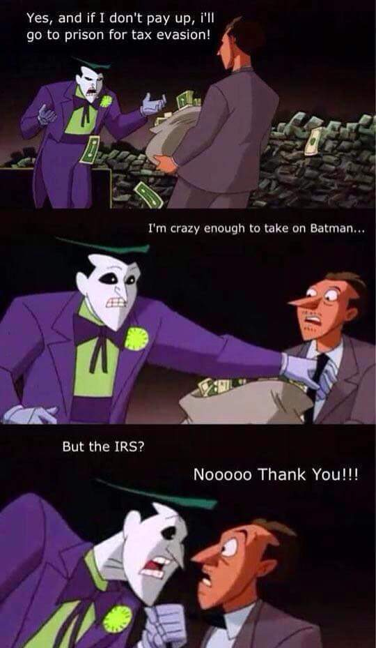 Batman VS IRS? - meme