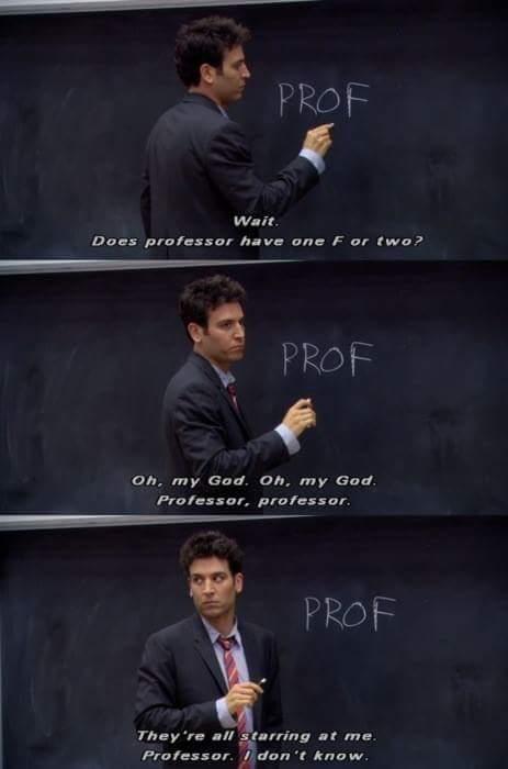 Proffessor - meme