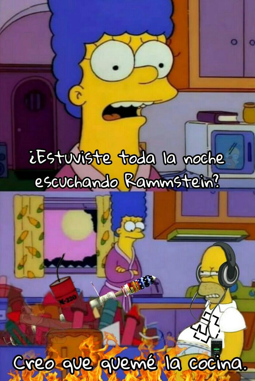 La pirotecnia de Rammstein. - meme