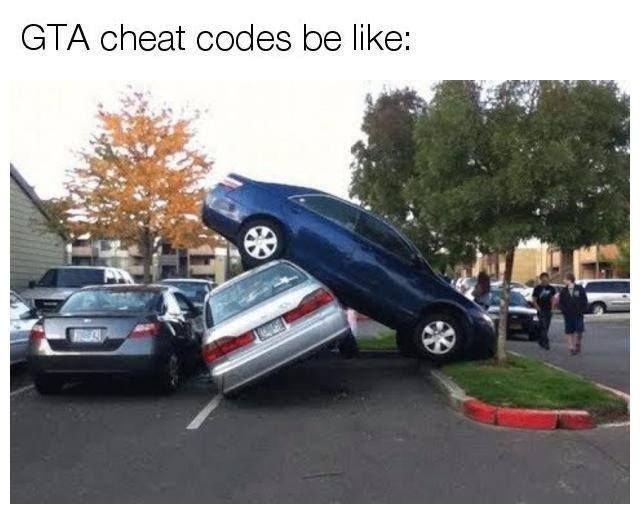 Gta cheat codes - meme