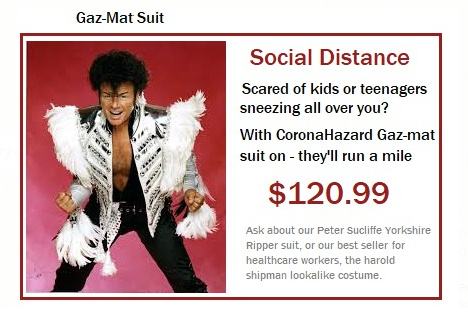 Gaz-Mat Social distance suit final week - meme