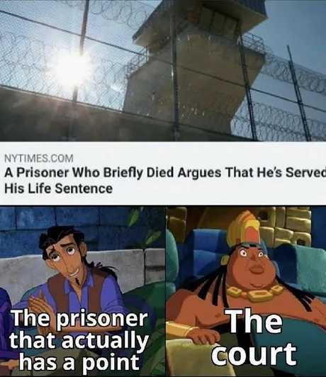 So that's the reason they sometimes give multiple life sentences - meme