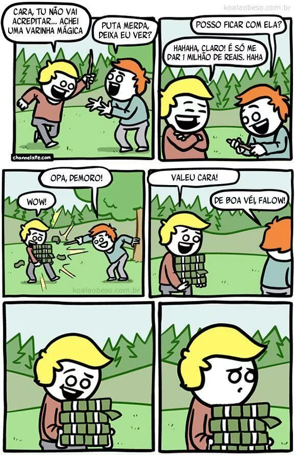 Varinha mágica - meme