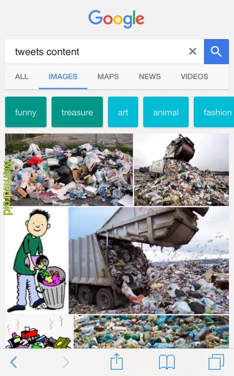 t is for tweet and trash - meme