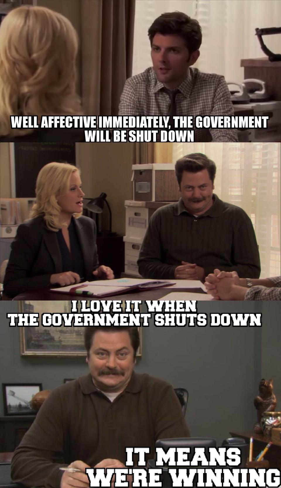 Happy Ron Swanson Day - meme