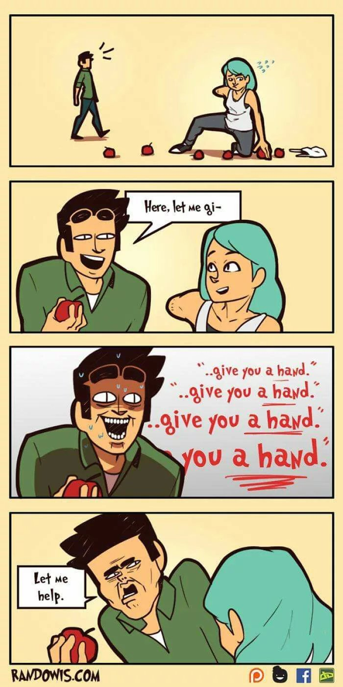Give you a hand - meme