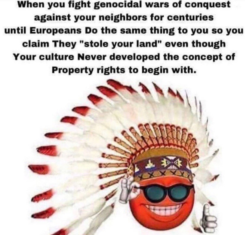 Mfw no Native American ethnostate - meme