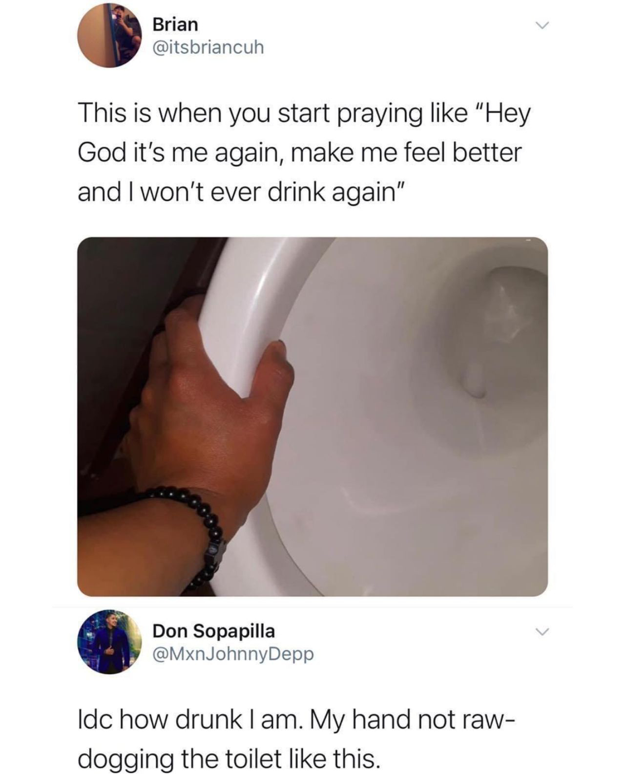 I'll never drink again... at least not until next weekend - meme