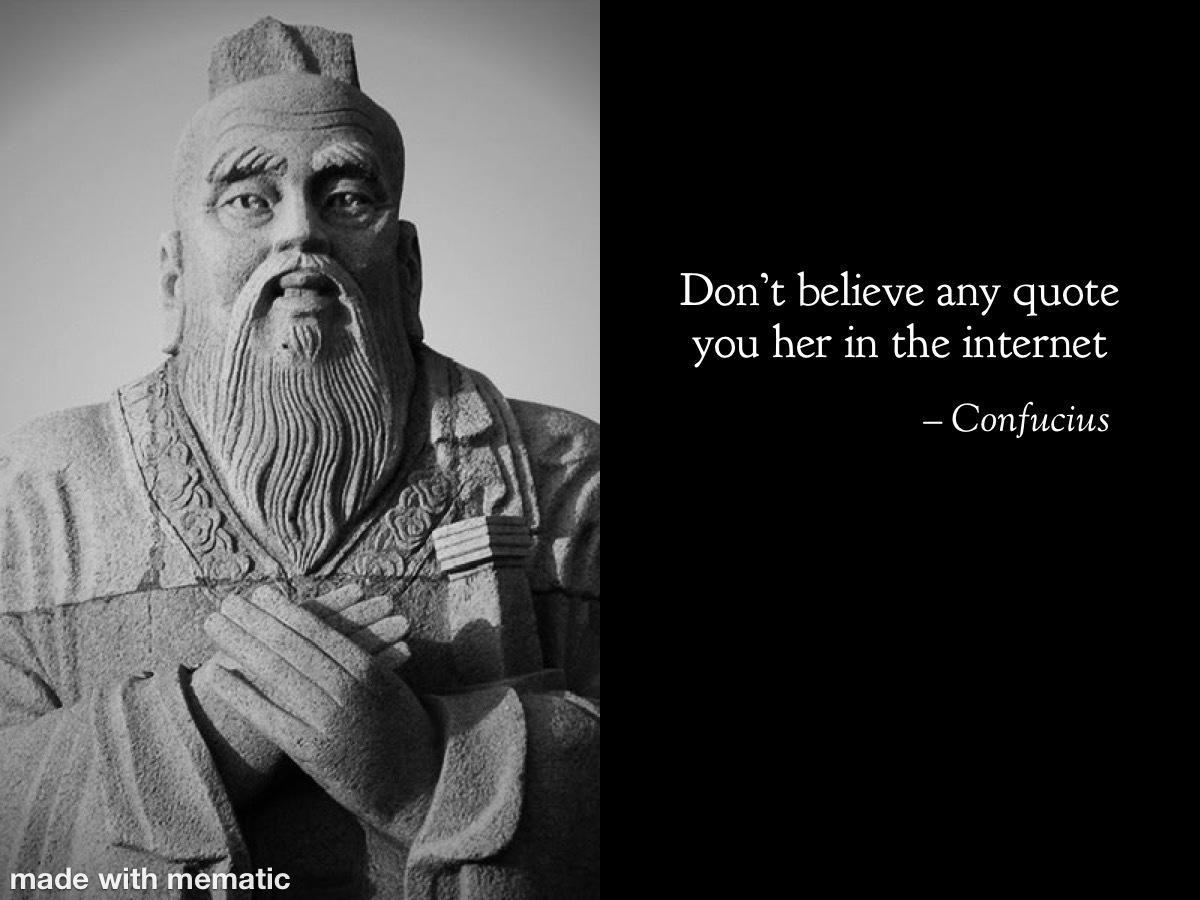 Confucius - meme