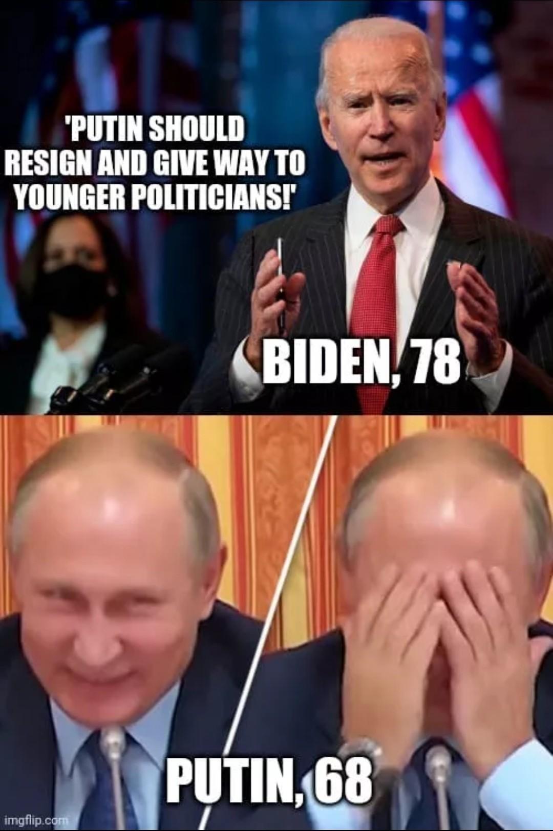 Biden is still tripping - meme