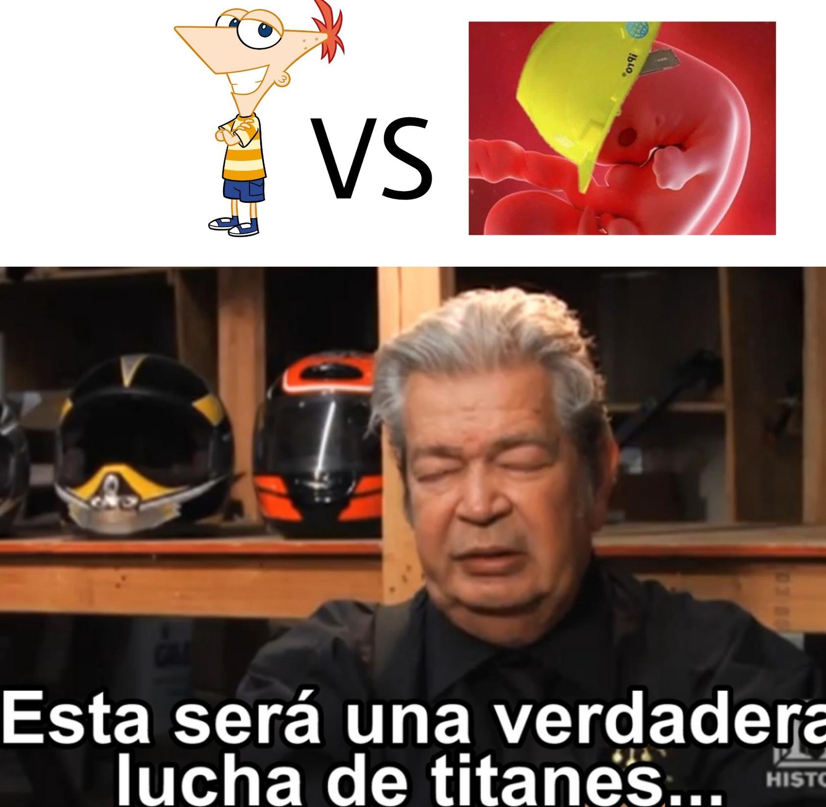 Feto ingeniero vs Phineas - meme