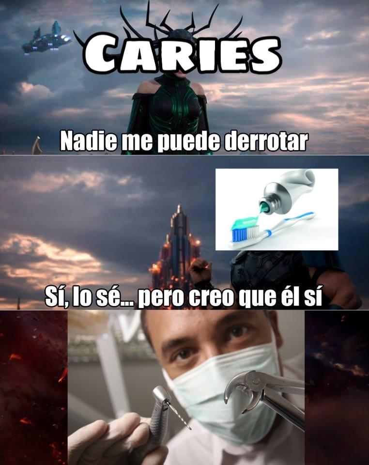 La ultima imagen es de un dentista - meme