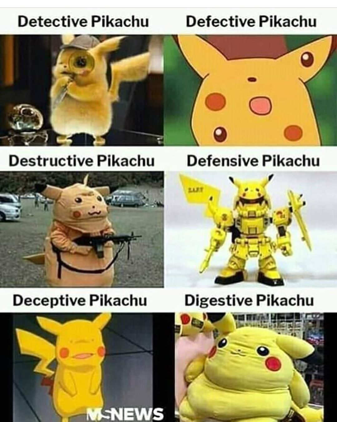 pikachus - meme