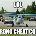Wrong cheat code