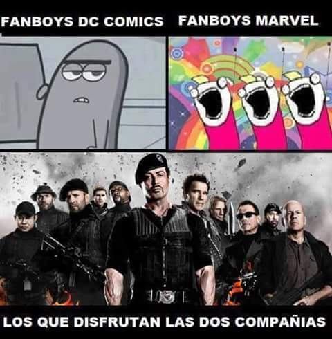 Aunque me gustan ambas, me voy más por DC Comics. ¿Ustedes? - meme