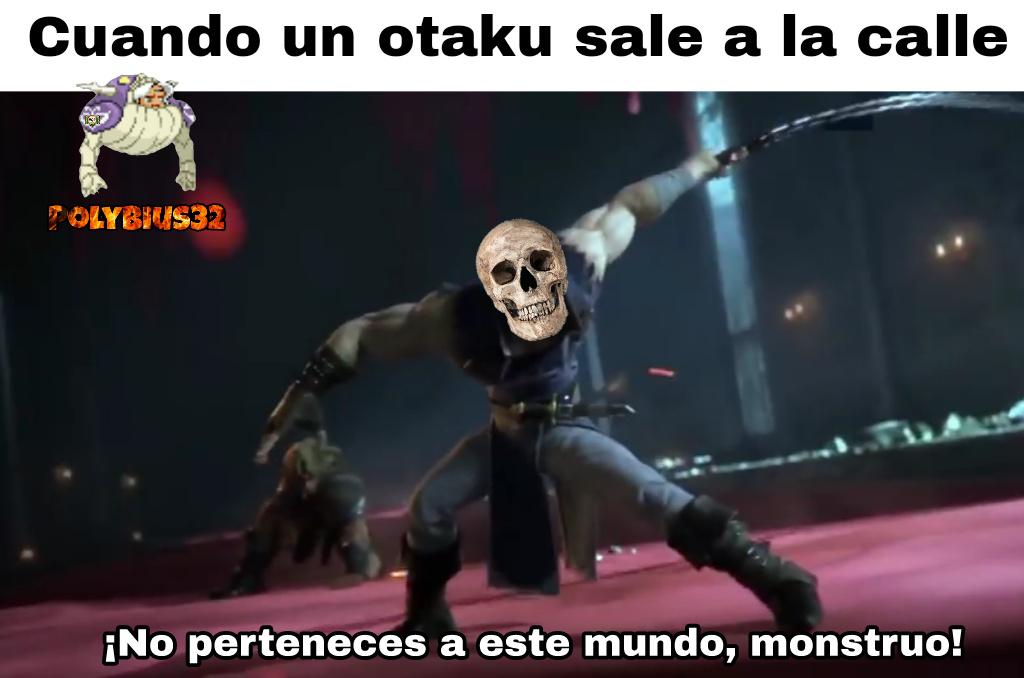 Te parto la raja otaku culiao - meme