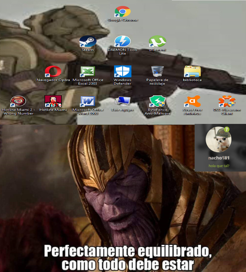 mi escritorio - meme