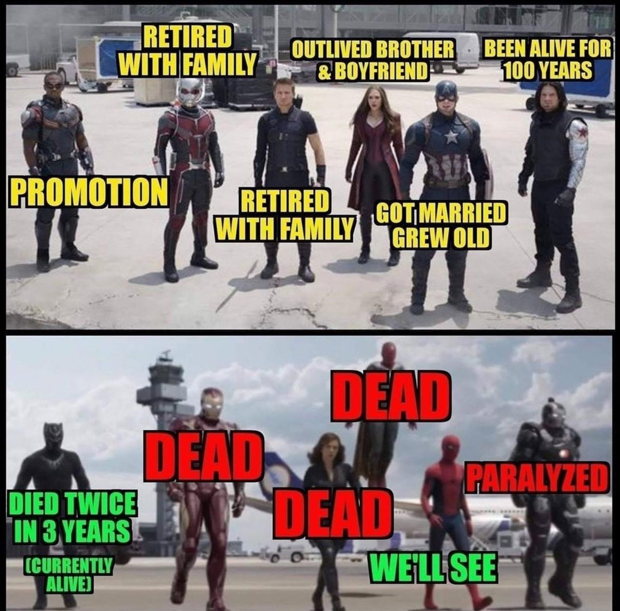 Avenger dissapear - meme