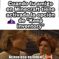 El Keep inventory es de maricas