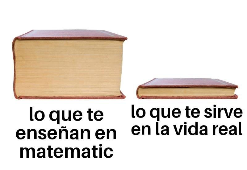 Pinches matematicas - meme
