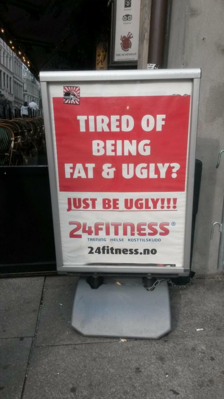 Fat and ugly - meme