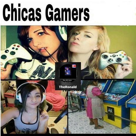 Chicas gamer - meme