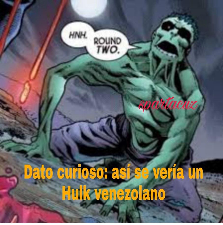Hulk se comio el título,se solidario y dale algo a Hulk - meme